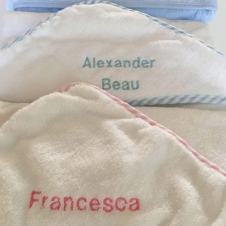 Personalised Name Baby Towels for boys and girls