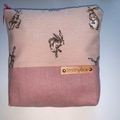 Pink Hares Pink Base Make Up Bag