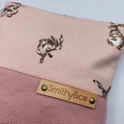 Pink Hares Pink Base Make Up Bag detail
