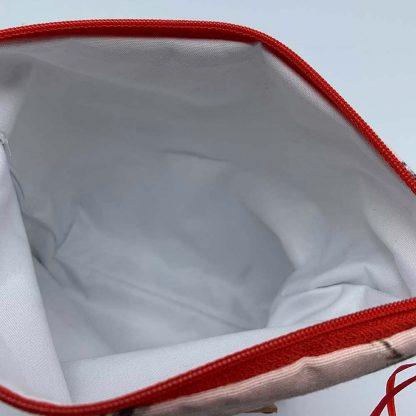 Pink Hares Pink Base Make Up Bag inside