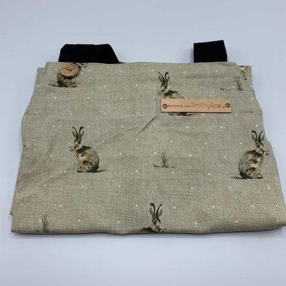 Silver Hare Apron folded