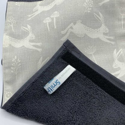 Silver Hare Roller Towel detail