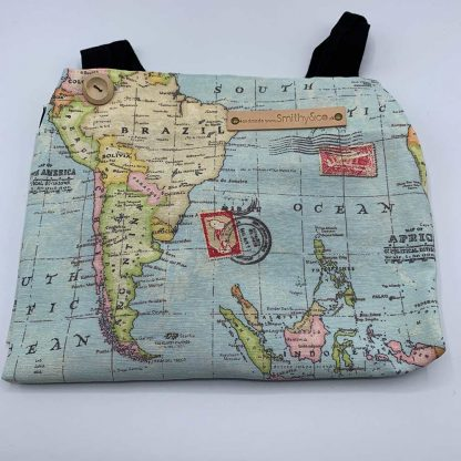 World Map Duck Egg Apron folded