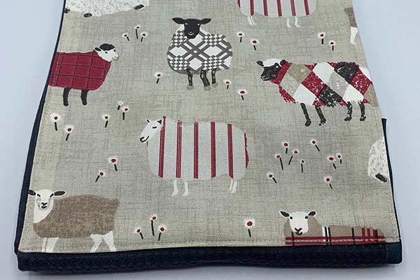 Handmade red sheep roller towel
