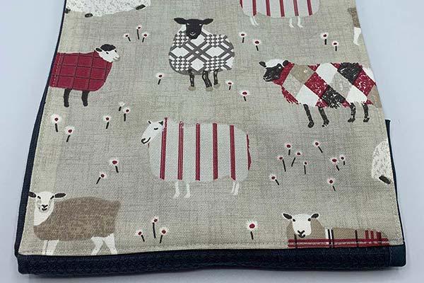 Handmade red sheep roller towel