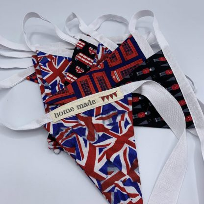 Personalised baby bunting, British London print